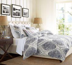 headboard, pb bed, bedroom