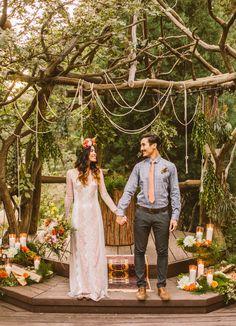 Gorgeous ceremony backdrop