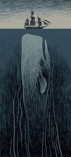 Moby Dick illustration by Max.    Shudder.