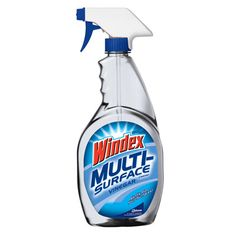 Kitchen Champion:Windex Multi-Surface Vinegar  The only cleanser ($3.26 for 26 oz., amazon.com) that completely removed dirt from stainless steel, laminate, and a painted wall. We found that it required a few extra strokes to thoroughly clean glass, but it left little streaking; it also eliminated grease fast. Contains vinegar — though not its pungent smell.
