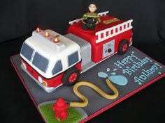 firefighter cake.. would be great in our house for the big day!!