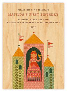Fun modern princess party invite--all online via Paperless post.
