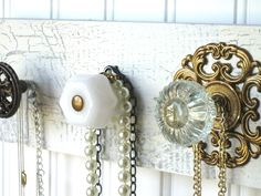 Can a girl have too many accessories? I don't think so! Display them in style on these unique knobs.