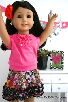 Sewing- An Elastic Band Skirt for Dolls and a Few Tip on Sewing for Dolls