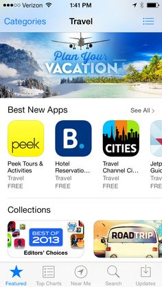 Peek app is the Best New App in Travel.