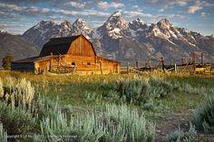 Moulton Barn Sunrise, Grand Teton Nation Park, Wyoming