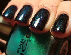 chloe nail, nail polish, color combos, colors, color combinations, pretti, coats, blues, black