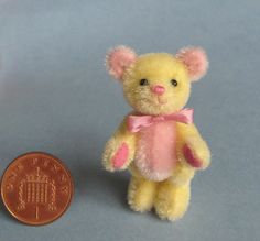 yellow and pink teddy by Bassom Bear