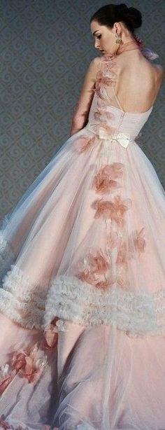 .stunning blush gown <3