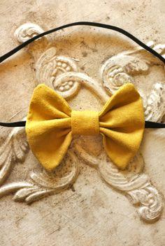 mustard yellow headband