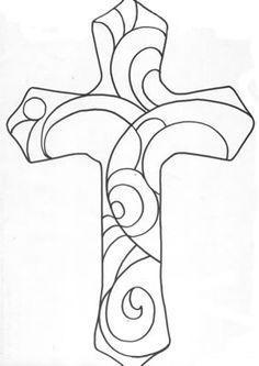 stained glass cross craft, idea, cross patterns, mosaics, mosaic design, art, mosaic crosses, easy mosaic patterns, stained glass cross pattern