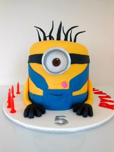 Minion Cake by EntICING Cakes, Cairns, Queensland, Australia. You'll find this Cake Appreciation Society Member in our Directory at www.cakeappreciationsociety.com