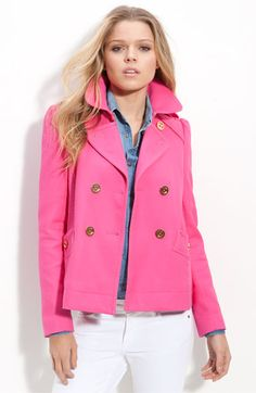 Juicy Couture Hot Pink Pea Coat