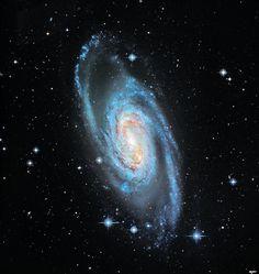 A barred, spiral galaxy