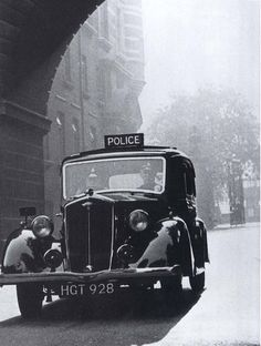 Metropolitan Police Wolseley,1069 cc, 'Wasp' 1940'ish, O/S Cannon Row Police Station, (New Scotland Yard) Westminster, London, SW1. UK. by sgterniebilko, via Flickr
