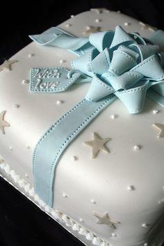 Pretty present cake.
