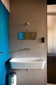 baths, bathroom mirrors, interior, blue wall, color, bathrooms, bathroom designs, bathroom sinks, blues