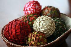 holiday, artichok, ball, christmas crafts, christmas fabric