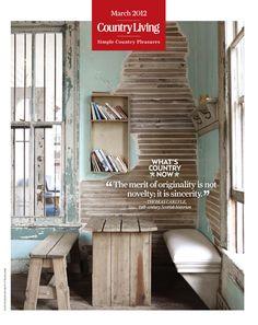 """The merit of originality is not novelty; it is sincerity."" - Thomas Carlyle, 19th-century Scottish historian farm, cottag, decora, breakfast, loft, hous, kitchen, countri, homeinterior"