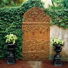 modern gardens, secret gardens, wrought iron gates, vine, garden gates, garden doors, walled garden, the secret garden, courtyard