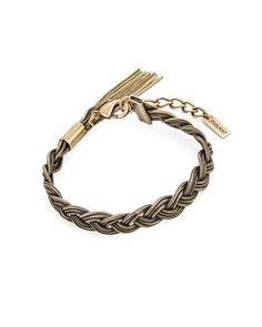 Braided bracelet.