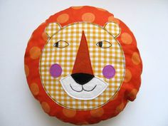 Curious lion stuffed toy for decoration - Circus inspired pillow for kids  #SocialCircus