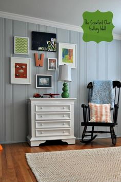 Gallery wall for boy room