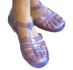 Jelly Sandals!! 90's hahaha I loved these. I wore a pair of heeled ones to the SD fair one year and got horrible blisters......