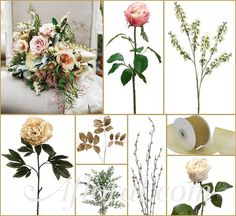 #vintage wedding #blush and gold wedding #afloral http://blog.afloral.com/daily-scoop/rustic-glam-wedding-flowers-sarahs-inspiration-board/#.UouHicSsiSo