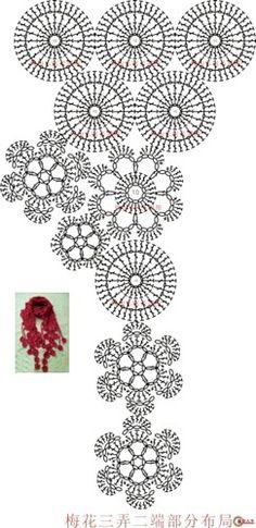 Crochet flower pattern.