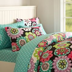 Camilla Floral Duvet Cover + Pillowcases | PBteen  I have this & love it! I want a set for college :)