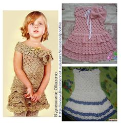Croche da Moda : Vestido infantil feito em crochê