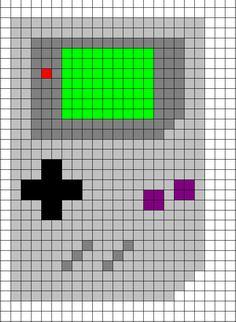 Game Boy Cross Stitch Chart