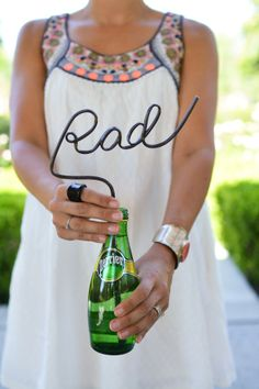 Rad straw with neon boho summer dress.  //  www.cupcakesandcutlery.com