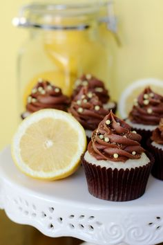 Chocolate Lemon Cupcakes
