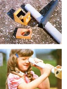 Make your own homemade kaleidoscope just like the expensive or dollar store models with a PVC pipe and a reflector made from wood.