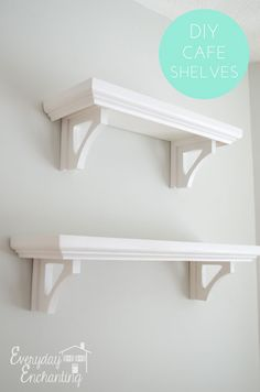 DIY Cafe Shelves...great for any space
