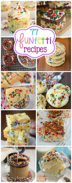 Over 77 Cake Batter Funfetti Recipes!