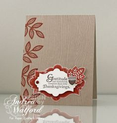 Neutral card perfect for fall or Thanksgiving.