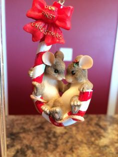 "Charming Tail Original ""Our First Christmas"" Ornament"