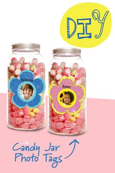 DIY Candy Jar Photo Tags!