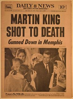 Martin Luther King Shot Death