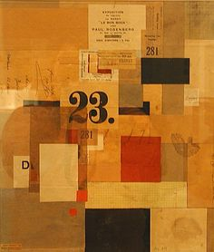 Kurt Schwitters Mz. 601, 1923, Collage; paint and paper on cardboard. Sprengel Museum, Hanover