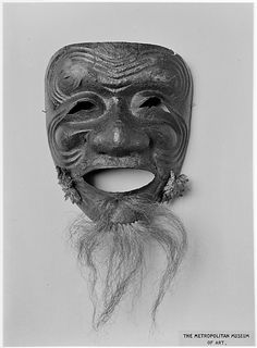 Mask  Date: possibly 15th century Culture: Japanese Medium: Lacquered iron, hair, silk
