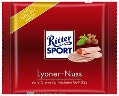 RITTER SPORT Fake Schokolade Lyoner-Nuss