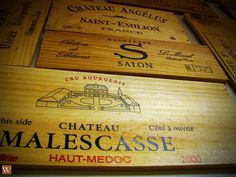 #wine cases made into art