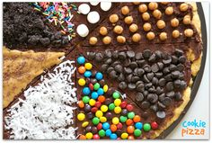 chocolate chip cookie pizza, chocolate chips, dessert pizza, cookie pizza recipe, chocol chip, pizza recipes, cooki pizza