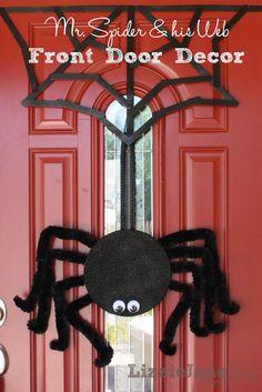 DIY Halloween front door decor