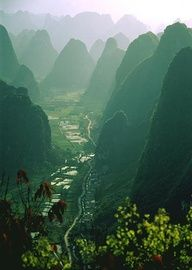 Places To Go, Ya Know...- Yanghsuo Limestone Karsts, China - #travel #honeymoon #destinationwedding