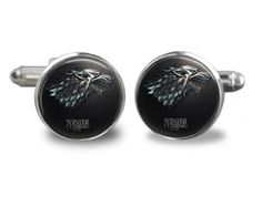 Game of Thrones Cuff links, Winter is Coming Cuff Links, House Stark, Gift for Men, Him throne cuff, gift, men cufflink, cuff link, hous stark, cuffs, link men, spiderman cuff, game of thrones